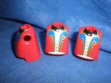 Playmobil garde gardist 3 x superior del cuerpo más grueso vientre rojo sin usar unplayed Top