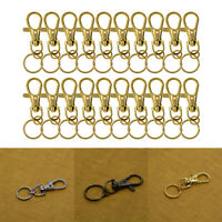 20Pcs Swivel Trigger Clips Snap Hooks Lobster Clasp Keychain Bag DIY Craft Key