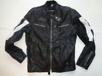 G-Star Raw black leather jacket, large mens D0243 ROAD MOWER GPL IP JKT
