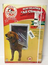 "Ruff Weather 15"" x 23.5"" Frame Pet Door Dual Flexible Vinyl Flaps Super Large"