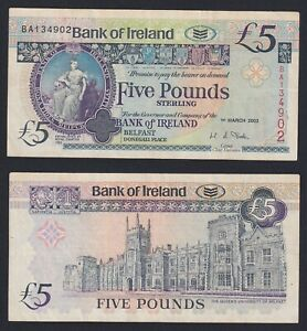 Ireland Of Northern 5 Pounds 2003 BB / VF C-08