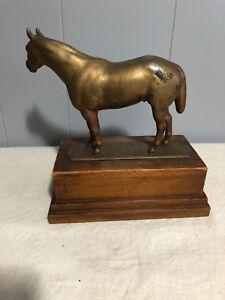 Vintage Brass Horse Gladys Brown
