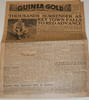 VTG 1944 WWII ARMED FORCES NEWSPAPER FROM NEW GUINEA! 'GUINEA GOLD'! WAR NEWS!