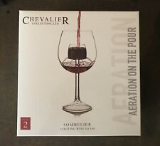 Sommelier Aerating Wine Glasses (Set of 2) by Chevalier Collection