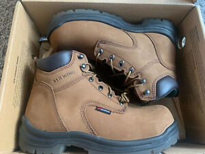 Red Wing Shoes 2240 Men's Safety Toe Work Boot - Size 8, Brown