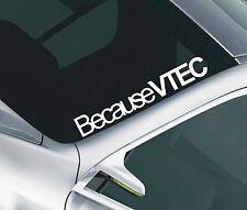 Porque Vtec Parabrisas Auto sunstrip Decal Sticker Jdm Honda 37