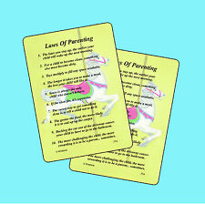 Laws Of Parenting - 2 Verse Cards - SKU# 774