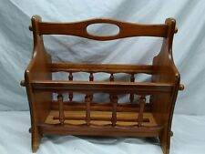Vintage Sunlight Solid Wood Magazine Rack With Handle Retro Old