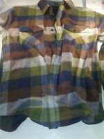 Gioberti Flannel Shirt Italy Plaid L