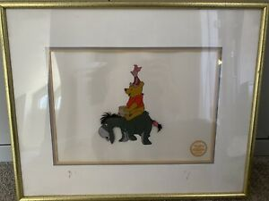 Disney Winnie The Pooh & The Blustery Day Serigraph Cel 1968 W/COA