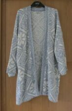 Ladies M&S Per Una Cotton Rich  Blue Mix 3/4 Sleeve Cardigan / Jacket Size 24