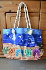 XXL Tasche ♥ große Strandtasche ♥ Sporttasche Badetasche Shopper NEU Schuhe blau