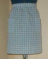 Childs 'Light Blue' Gingham  Vintage Style Half / Waist Apron/Pinny