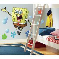"38"" Giant SPONGEBOB SQUAREPANTS  Mural 9 Wall Decals Kids Room Decor Stickers"