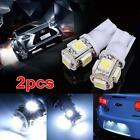 2pcs White T10 5 SMD LED Bulb car wedge Reverse Signal Light Lamp W5W 168 914 Wk