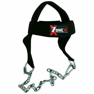 Neck Strong Muscles Belt Gym Training Weight Lifting Dip Chain Head Harness