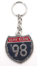 CLINT BLACK - '98 INTERSTATE METAL KEYCHAIN NEW OFFICIAL COUNTRY MUSIC