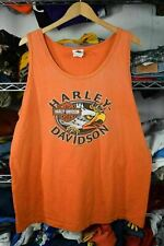 New listing Harley Davidson Baton Rouge Louisiana Orange Tank Top Shirt Men's XL