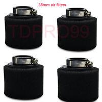 4x Black 38mm Foam Air Filter Pod Cleaner 125cc 140cc PIT PRO Quad Dirt Bike ATV