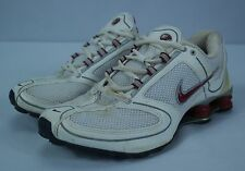 Women's Nike White/Red/Grey Shox RNG Running Sneaker Shoes (#314180-161) - Sz 10