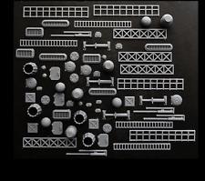 Greeblies 68 pc, for kitbash, spaceship, sci fi, scratchbuild, 3d print