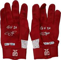 Dexter Fowler St. Louis Cardinals Signed GU Red & White Jordan Gloves & Insc