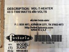 Fostoria MTM 2-Lamp Infrared Heater 7300 Watt 480 Volt Indoor Outdoor *READ*