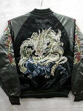 Sukajan dragon and black leopard embroidery made in Japan full-scale embroidery