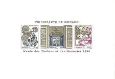 Monaco Bloc n° 73 Musée Timbres Monnaies ESSAI colour proof, superbe, très RARE.
