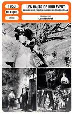 FICHE CINEMA : LES HAUTS DE HURLEVENT - Luis Bunuel 1953 Wutherings Heights