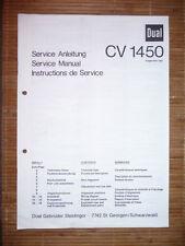 Service Manual pour DUAL CV 1450 Amplificateur, original
