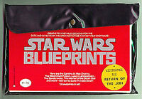 ORIGINAL 1977 STAR WARS BLUEPRINT Set -Vintage 15 Fold Out Sheets in Pouch