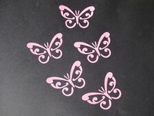 BUTTERFLY DECAL/STICKER X 5 - PINK