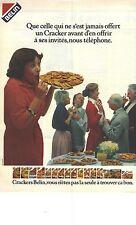 PUBLICITE 1979  BELIN biscuits gateaux apéritif CRACKERS , vous n'etes pas la se