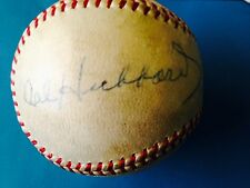 Cal Hubbard signed baseball PSA/DNA Certified (enshrined in 3 Hall of Fames)