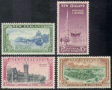 New Zealand (NZ) 1948 Otago/Clock Tower/Church/Buildings/Ships/Sail 4v (n41814)