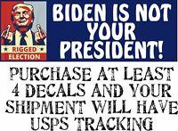 "BIDEN IS NOT MY PRESIDENT Joe Biden ANTI BIDEN Bumper Sticker 8.7"" X 3"" Sticker"