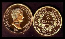 ★★ JOLIE COPIE PL. OR DE LA RARE 2 FRANCS AN 12 I LIMOGES CONSUL ★★ NEUVE FDC