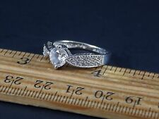 Quality 925 Sterling Silver CZ Ring Size 8 Hallmarked DC or DQ CZ 925 China