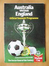 More details for australia v england 1980 *vg condition football programme*
