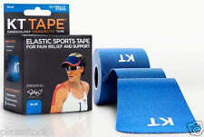 KT Tape Original Cotton Kinesiology Tape - 1 Roll of 20 Precut Strips - Blue