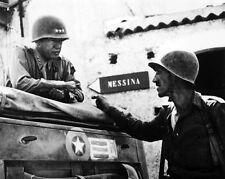 New 8x10 World War II Photo: George Patton & Lyle Bernard of the 30th Infantry