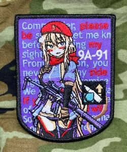 9A-91 Russian T-Doll (Tactical Doll) Girls' Frontline Patch Morale Military