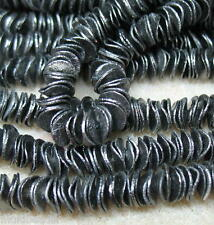 Bright Black 10mm Wavy Chip Cornflake 60 Beads Spacer Accent Jewelry Crafts Wrap