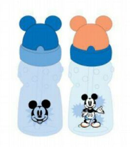 Disney Mickey Mouse Straw Sippers Sippy Cups, 2 Pack, 11 OZ, 6+ Months, FD51036