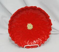 """Poinsettia Plate 10"""" Red Christmas"""