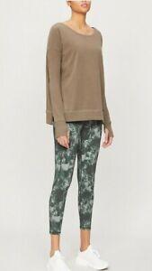Sweaty Betty Luxe Simhasana Sweatshirt Size M Taupe