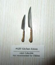 Dollhouse Miniature 1 12 Scale Set of 2 Kitchen Knives by Sir Thomas Thumb