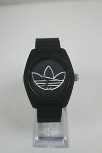 Adidas Santiago Black Rubber Strap Watch ADH3197 Pre-Owned