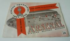Arsenal 1947/8 League Champions Players' Souvenir Brochure.